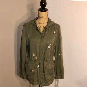 BAGATELLE JACKET STARS HOODED ARMY GREEN S